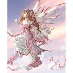 Nene Thomas Cameo Choker Necklace Daybreak Fairy Faery Pink Wings Pewter