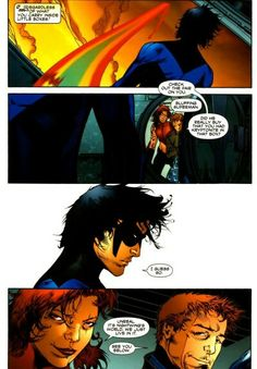 Nightwing stares down superman 4