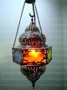 Egyptian Handmade Islamic Hanging Lamp / Lantern