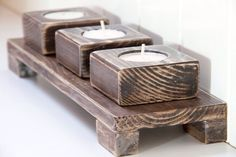 80 Creative DIY Christmas Candle Holders Ideas to Makes Your Room More Cheerful Permit it to dry and you own a candle holder. Candle holders are great in regards to decorating, since they […] Scrap Wood Projects, Small Wood Projects, Diy Projects, Christmas Candle Holders, Wooden Candle Holders, Pallet Crafts, Wooden Crafts, Wood Creations, Diy Candles