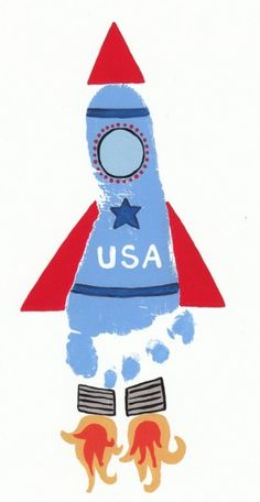 Rocket handprint design