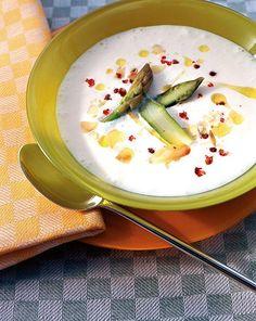 Blumenkohlsuppe mit grünem Spargel Rezept - [ESSEN UND TRINKEN]