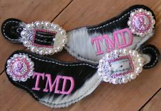 <3 these!! Custom spur straps from Diamond J Tack...find them on Facebook or at www.diamondjtack.com Cowgirl And Horse, Western Horse Tack, Horse Girl, Cowboy Boots, Country Girl Style, Country Girls, My Style, Boot Bling, Cowgirl Bling