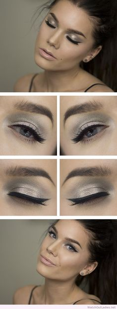 Linda Hallberg silver and black eye makeup