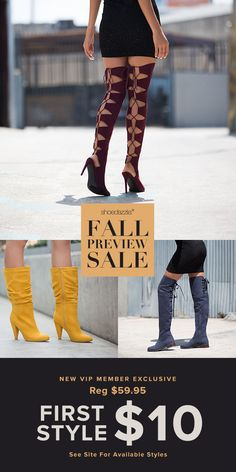 Get VIP ACCESS to the most sought-after online shoes, boots, handbags and clothing for women, handpicked for you based on your personal fashion preferences. Fashion 101, Fashion Shoes, Womens Fashion, Cute Shoes, Me Too Shoes, Nylons, Fall Outfits, Cute Outfits, Grunge
