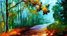 Original Recreation Oil Painting on Canvas  This is the best possible quality of recreation made by Leonid Afremov in person.    Title: Fresh