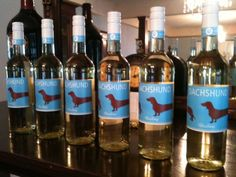 I want this too!  And I'm not really wine drinker!! Dachshund Riesling: Here are the first of the Dachshund bottles to arrive to the U.S from Germany!