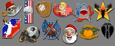 Decals from 'Crazy Taxi:City Rush', iOS