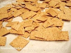 An American Housewife: Low Carb, Sugar Free Crackers - Like Wheat Thins