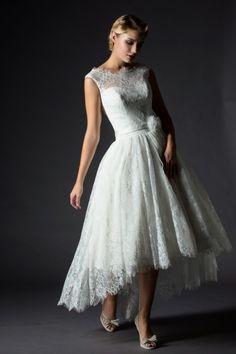 Rita Mae Tea Length Wedding Dress 1038                                                                                                                                                      More