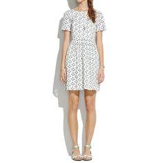 Songbird Dress in Crosshatch Ikat - dresses & skirts - Women's NEW ARRIVALS - Madewell