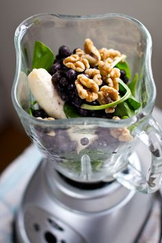 Blueberry Pie Green Monster. Antioxidants. Walnuts. Yum.
