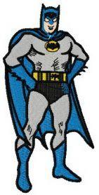 Brave Batman machine embroidery design. Machine embroidery design. www.embroideres.com