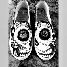 3541c0ac69 Custom Sugar Skull Shoes by CaraaBelllaCreations on Etsy Skull Shoes