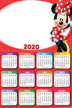 Free Printable Calendar, Kids Calendar, Calendar 2020, Calendar Design, Photo Calendar, Mickey Mouse Art, Red Minnie Mouse, Mickey Christmas, Christmas Frames