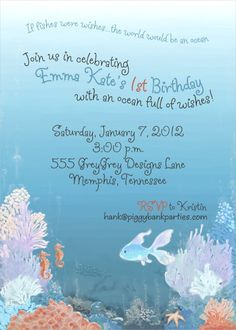 GreyGrey Designs: {My Parties} Emma Kate's Ocean 1st Birthday