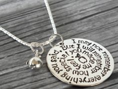 Personalized Teacher Necklace Sterling Silver Thank You Gift for Teachers Day Care Christmas Gifts Hand stamped High School Back to School
