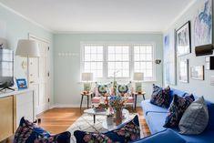 Art & Mañas » Un salón en rosa y azul