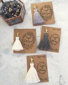 Brand new affordable model 💐💐💐💐💐 Create Order … – Macrame Wedding Gifts For Guests, Wedding Favours, Diy Wedding, Diy Crafts To Sell, Diy Crafts For Kids, Handmade Crafts, Macrame Design, Macrame Art, Diy Keychain