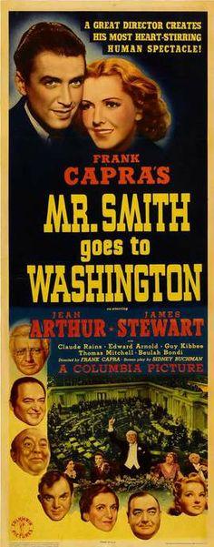 Mr. Smith Goes to Washington, James Stewart, jean Arthur, dire: Frank Capra - A mulher faz o homem (1939)