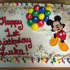 Mickey Mouse First Birthday Sheet Cake