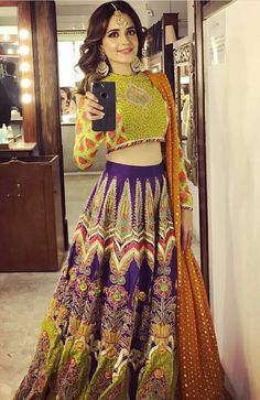 Buy Online Punjabi Wedding Lehenga Designer Collection Call/ WhatsApp us 77164 Pakistani Mehndi Dress, Pakistani Formal Dresses, Pakistani Wedding Outfits, Pakistani Dress Design, Indian Dresses, Indian Outfits, Punjabi Wedding, Party Wear Lehenga, Party Wear Dresses