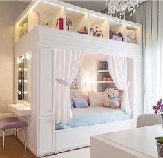 Mädchenzimmer: 75 Mädchenzimmer Ideen mit Fotos Girls room: 75 girls room ideas with photos # Roof sloping paint Related posts: Sewing projects for teens room decor girls bedroom New ideas Light Up Headboard Girl Bedroom Designs, Room Ideas Bedroom, Girls Bedroom, Bedroom Decor, Trendy Bedroom, Bedroom Sets For Kids, Kids Rooms, Preteen Bedroom, Teen Girl Bedding