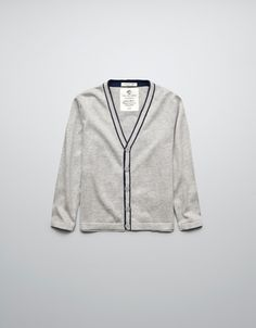 CARDIGAN WITH ELBOW PATCHES - Cardigans and sweaters - Boy (2-14 years) - Kids - ZARA United States $25.90