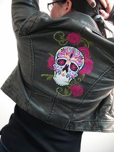 Embroidered Dia de los Muertos Jacket