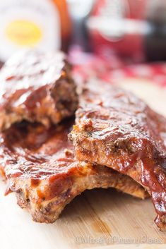 Slow Cooker Chipotle BBQ Ribs @FoodBlogs