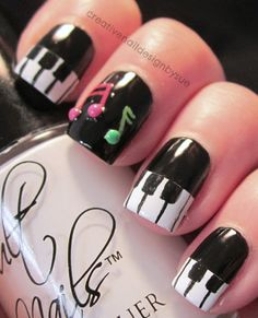 music as nail design inspiration. These will be happening music as nail design inspiration. Fancy Nails, Love Nails, Diy Nails, Pretty Nails, Manicure Ideas, Nail Ideas, Creative Nail Designs, Cute Nail Designs, Creative Nails