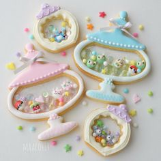Fancy Cookies, Cute Cookies, Sugar Cookies, Christmas Cookie Boxes, Kawaii Dessert, Pokemon, Cute Desserts, No Sugar Foods, Food Decoration