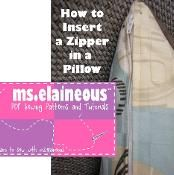 How to Insert a Zipper in a Pillow - via @Craftsy
