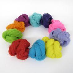 Joe's Toes - Coloured Wool Tops - Boxed