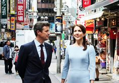 The Crown Princely couple of Denmark, Prince Frederik and Princess Mary on their last day in Tokyo where they were promoting Greenland.