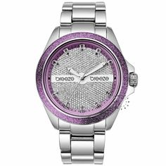 BREEZE City Light Purple Stainless Steel Bracelet Τιμή: 150€ http://www.oroloi.gr/product_info.php?products_id=30545