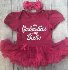 inktastic Trick or Treating with My Godmother with Cute Infant Tutu Bodysuit