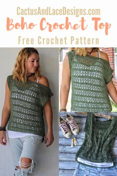 Learn how to make an easy lacey summer top with this beginner friendly free crochet pattern + tutorial. Crochet Summer Tops, Easy Crochet, Crochet Yarn, Crochet Stitches, Crochet Tops, Crochet Sweaters, Freeform Crochet, Crochet Dresses, Crochet Womens Tops