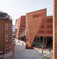 To create the faceted skin enclosing the Saw Swee Hock Student Centre at the London School of Economics, architects O'Donnell + Tuomey used bricks in 46 standard shapes and 127 special shapes.