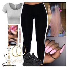 """They mad cause they ain't me 😼"" by saucinonyou999 ❤ liked on Polyvore featuring J.TOMSON, NIKE and Rebecca Norman"