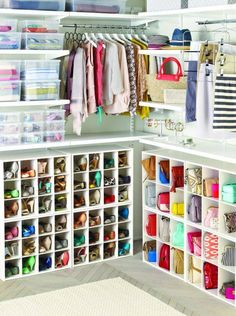 I will never own that many shoes or purses but I love this closet system.