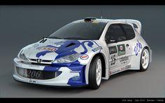 Peugeot 206 WRC by Gabich | YafaRay