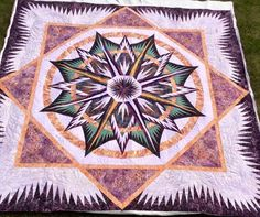 Mariner's Compass, Quiltworx.com, Made by Kathleen Crabtree