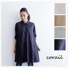 【corail コライユ】コットン レーヨン ビエラ タック ワンピース(3113064)