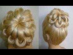 ▶ Свадебная вечерняя причёска на выпускной.Пучок из волос.Prom Braid Hairstyles.Coiffures - YouTube