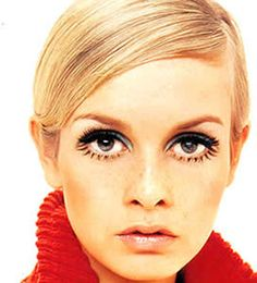 In the 60's Twiggy set a new standard for beauty with her short hair, boyish figure, mini skirts, and painted-on lower lashes.  She was a sensation!