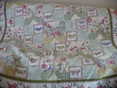 Butterfly queen bed quilt/double bed by SimplyQuiltingbyBarb