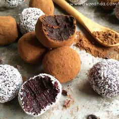 2 Ingredient Raw Chocolate Truffles 2 cups high quality soft dates, pitted 2-3 tablespoons raw cacao or carob powder, additional for coating optional: 1 tablespoon coconut oil, 2 tablespoons chopped nuts, 1 teaspoon vanilla essence, sea salt to taste -- Berry Coconut Truffles 2-3 tablespoons organic berry powder 2 tablespoons shredded coconut