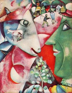"""Chagall's """"I and the Village"""": Saw this at MoMa I believe, and was completely transported, couldn't leave for quite some time."""