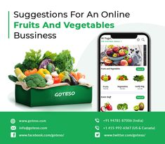 Start Fruit and Vegetable Business with a Mobile App Graphic Design Lessons, Food Graphic Design, Food Menu Design, Food Poster Design, Vegetable Packaging, Fruit Packaging, Online Fruits And Vegetables, Fresh Vegetables, Vegetable Delivery